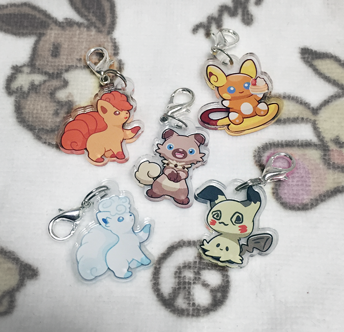 Miki's Pokemon Gift Shop – Acrylic Charms