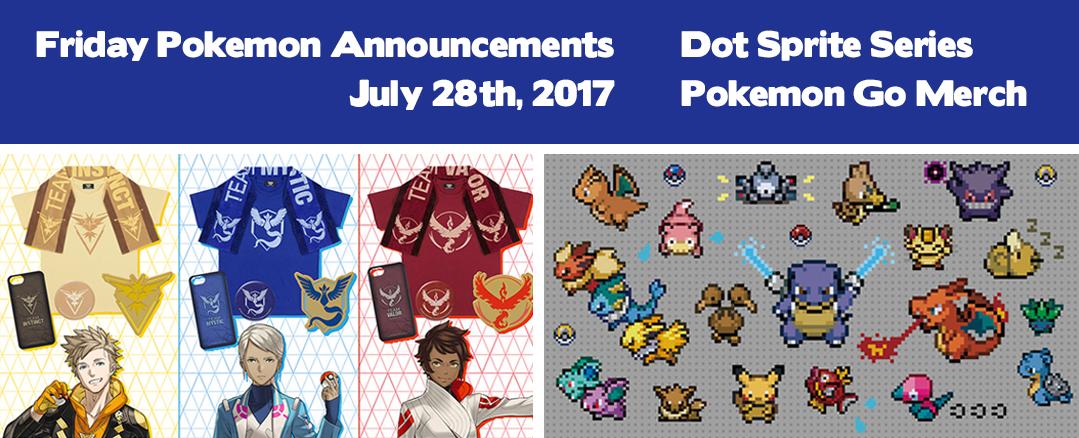 Friday Pokemon Announcements – Dot Sprite Series + Official Pokemon Go Merchandise + Momo-Taro Pikachu