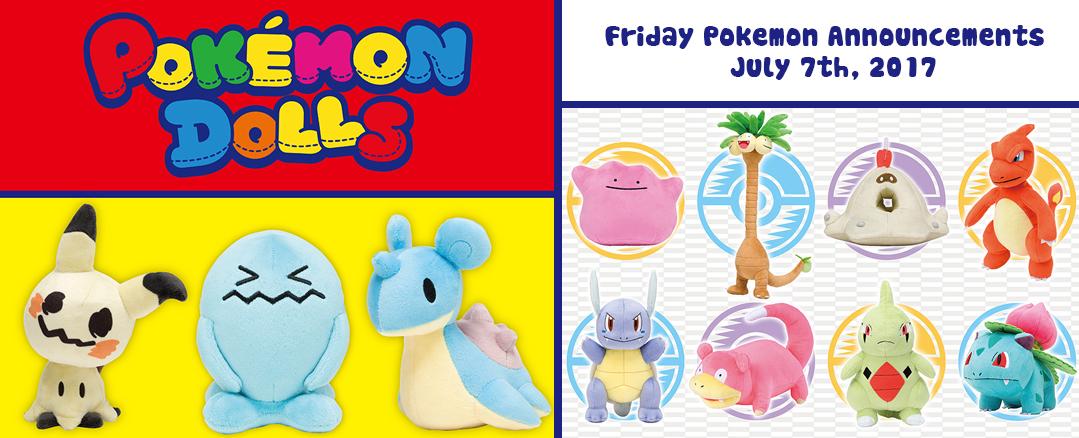 Friday Pokemon Announcements – Plush + Pokedolls + Cameras