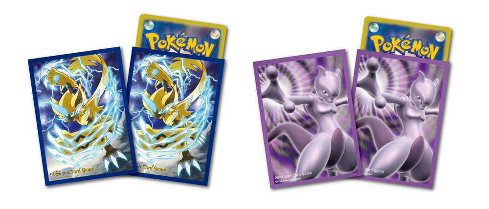 Pokemon Center TCG Card Sleeves Mewtwo Zeraora