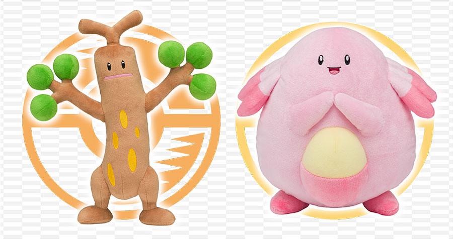 Pokemon Center exclusive plush Sudowoodo Chansey