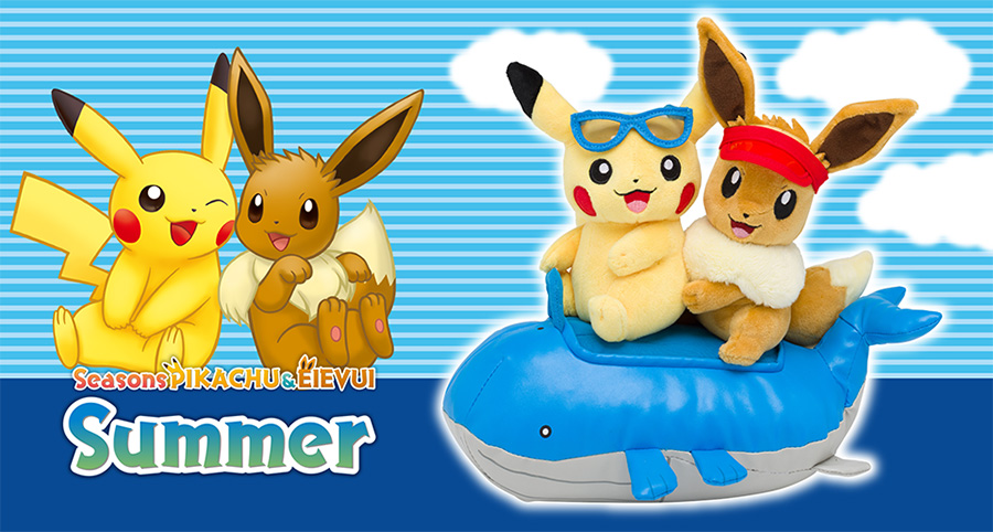 Pokemon Center Seasons Pikachu & Eevee Summer