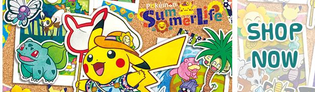 Pokemon Center Summer Time Banner