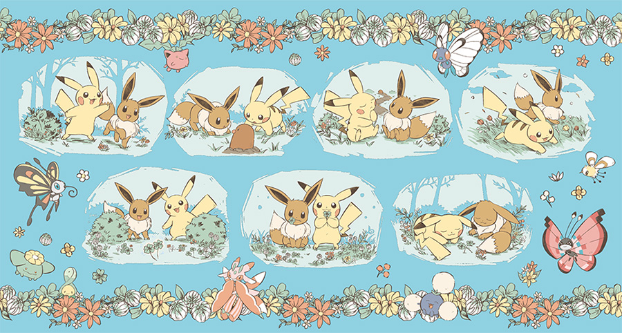 Pokemon Center Pikachu Eevee 7 Days Story
