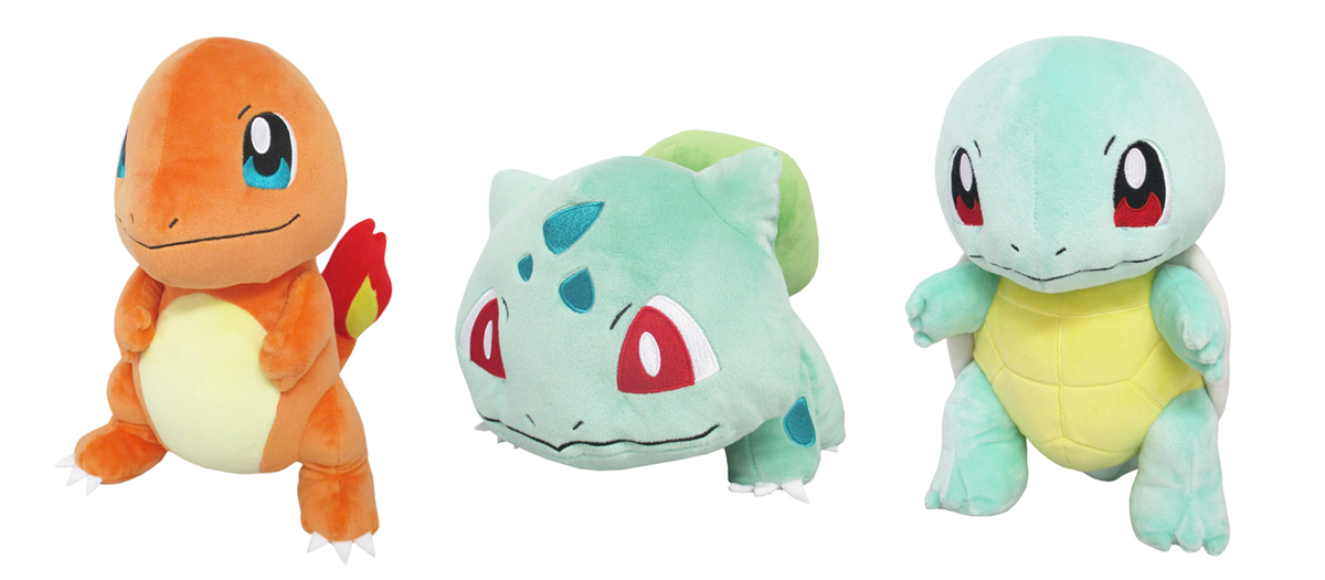 Pokemon Plush San-ei All Star Charmander Squirtle Bulbasaur