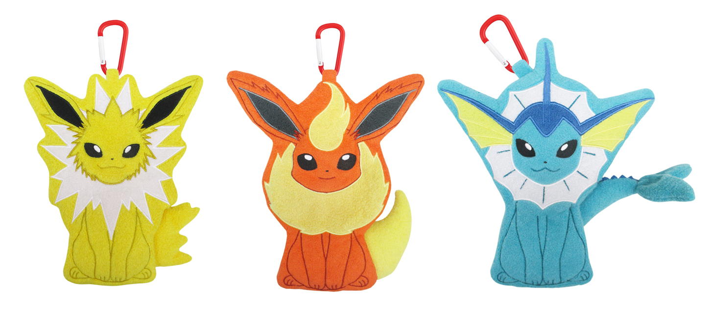 Pokemon Plush San-ei All Star Flareon Jolteon Vaporeon