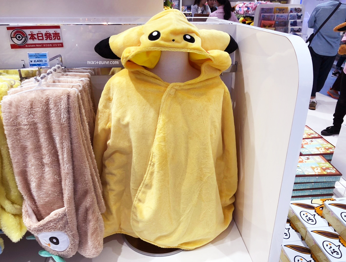 Pokemon Center Pikachu plush poncho