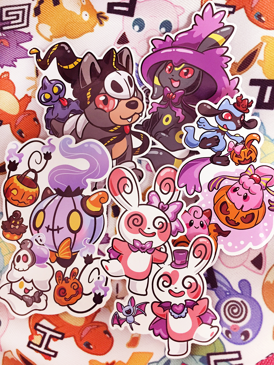 Miki Pokemon Halloween Stickers