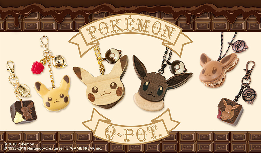 Q-Pot Pokemon Center Sweets Collaboration