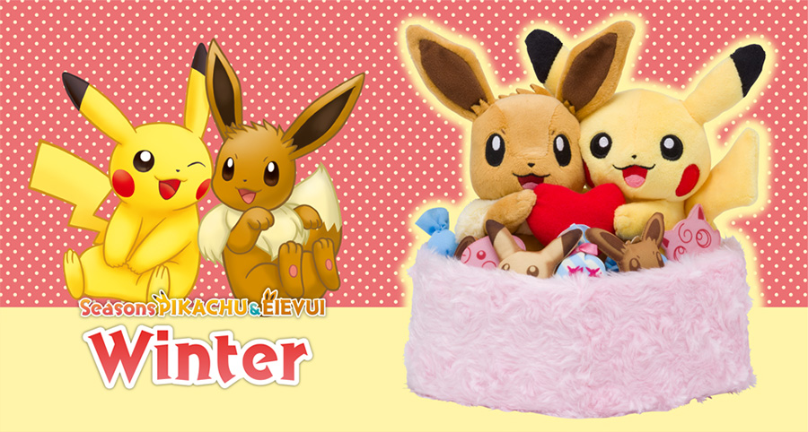 Pokemon Center Seasons Pikachu Eevee Winter
