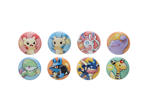 Pokemon Center Pokemon With You Charity Can Badges