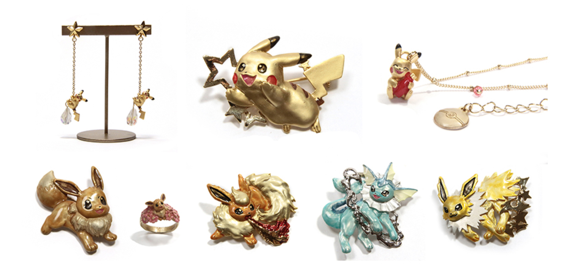 Pokemon Palnart Eevee Accessories and Jewelry