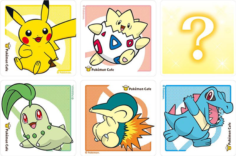 Pokemon Center Cafe Coasters