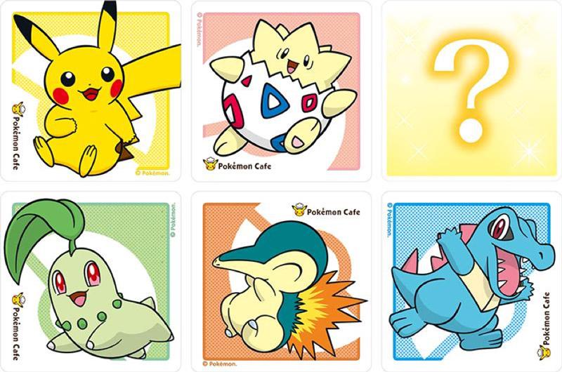 Pokemon Center Cafe Coasters
