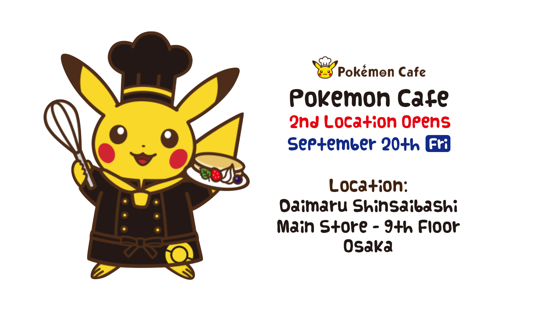 Pokemon Center Cafe News Osaka Store