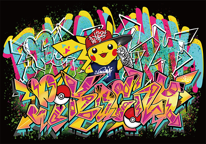 Pokemon Center Shibuya Graffiti Art Number-D